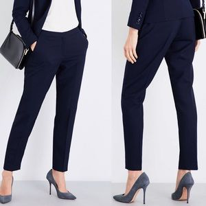 NWT Reiss navy Faulkner tailored-fit trousers 6 A9
